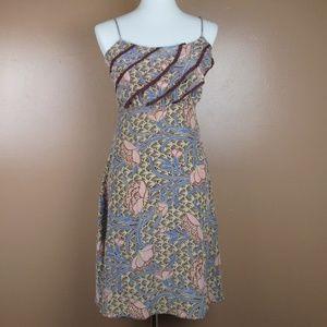 6 Betsey Johnson Dress Floral Ruffled Sleeveless